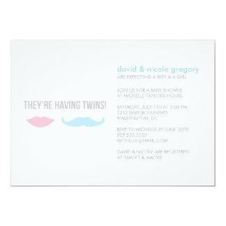 Twins Baby Shower 13 Cm X 18 Cm Invitation Card