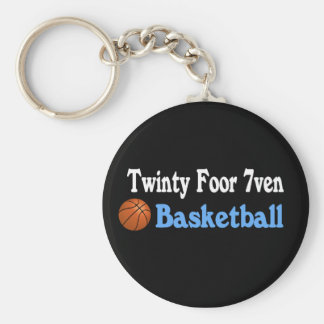 Twinty Foor 7ven Basketball Basic Round Button Key Ring