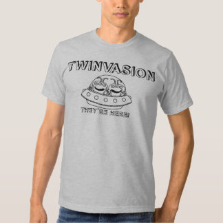 """TWINVASION """"They're Here!"""" Shirts"""