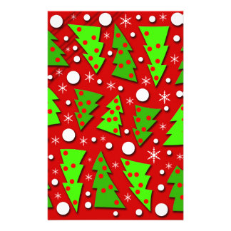 Twisted Christmas trees Stationery