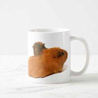 two beautiful guinea pig basic white mug