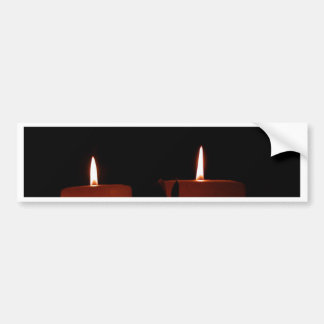 Two Candles Bumper Sticker
