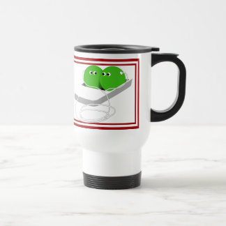 Two Cute Peas in a Pod Stainless Steel Travel Mug