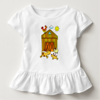 Two Dogs, Mummy and Baby, Playing Around Barn T-shirt