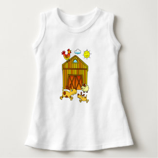 Two Dogs, Mummy and Baby, Playing Around Barn T Shirts