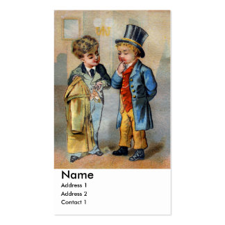 Two Men at Clothiers Pack Of Standard Business Cards