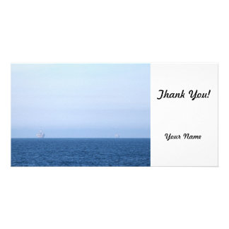Two Oil Rigs Customized Photo Card