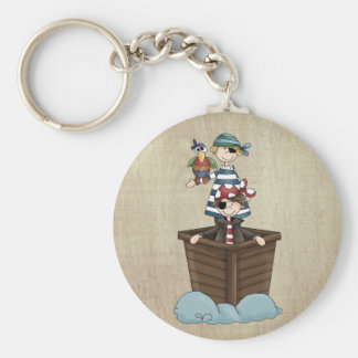 Two Pirates Basic Round Button Key Ring