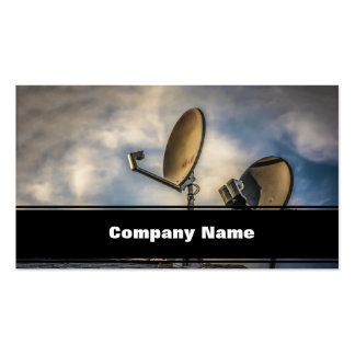Two Satellite Dishes in the Sky Pack Of Standard Business Cards