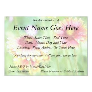 Two Sunny Blanket Flowers 13 Cm X 18 Cm Invitation Card
