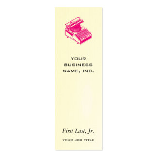 Type Writing Machine Magenta Pack Of Skinny Business Cards