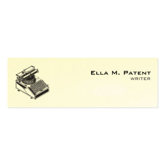 Type Writing Machine Patent Illustration Pack Of Skinny Business Cards
