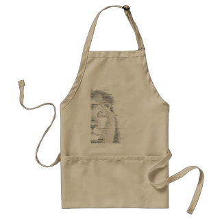 Typography Lion Standard Apron