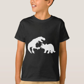Tyrannosaur and Triceratops w Tshirts