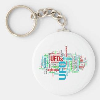 UFO BASIC ROUND BUTTON KEY RING