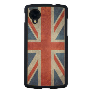 UK British Union Jack flag retro style wood case