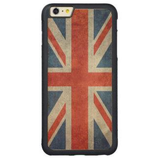 UK British Union Jack flag retro wood iphone case