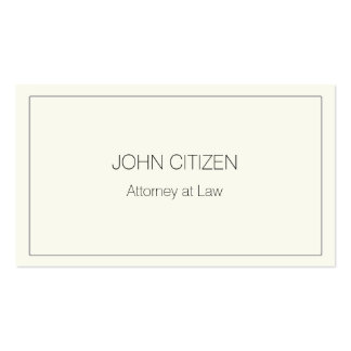 Ultra-Thick Premium Cream w/ border Pack Of Standard Business Cards
