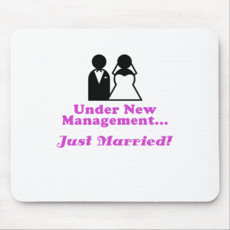 Under New Management Just Married Mouse Pad