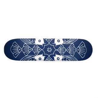 Underwater Fish Design with Blue Background Skateboards