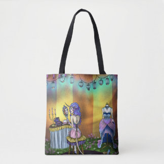 Unicorn, Fantasy Carnival Lady Dressing Room Art Tote Bag