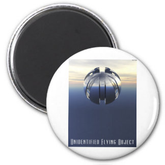Unidentified Flying Object 6 Cm Round Magnet