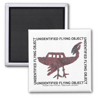 Unidentified Flying Object Square Magnet