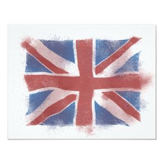 Union Jack 11 Cm X 14 Cm Invitation Card