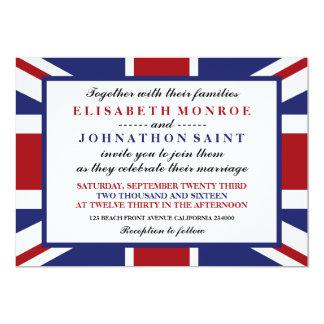 Union Jack Flag British Wedding 13 Cm X 18 Cm Invitation Card