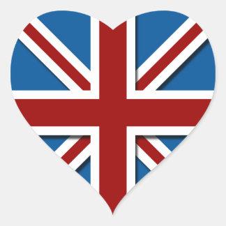 Union Jack Heart Sticker