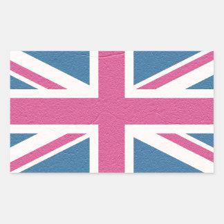Union Jack Rectangular Sticker