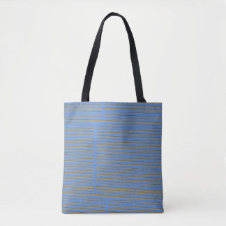 Unique Blue and Green Striped Pattern Tote Bag