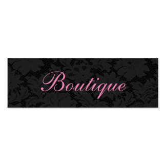 Unique Chic Dark Grey Lace Pink Boutique Pack Of Skinny Business Cards
