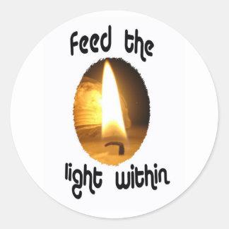 Unique, inspirational round sticker