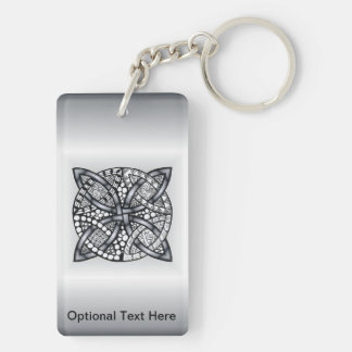 Unique Inspired Celtic Knot Double-Sided Rectangular Acrylic Key Ring