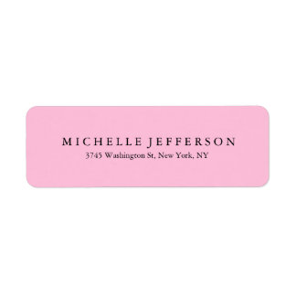Unique Stylish Modern Elegant Pink Return Address Label