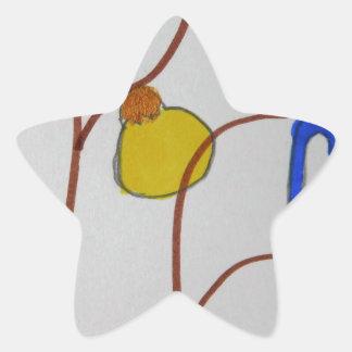 Unique Trendy Modern Eye Catching design Star Sticker