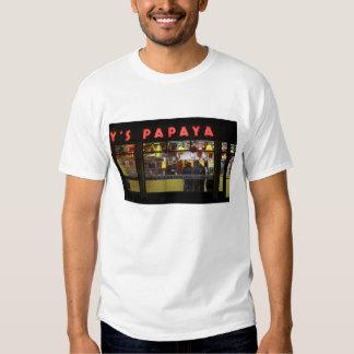 United States, New York. Gray's Papaya: window Tshirt