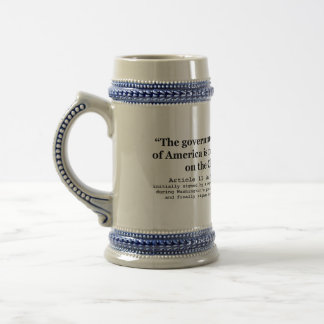 United States Not Founded on Christian Religion Beer Steins