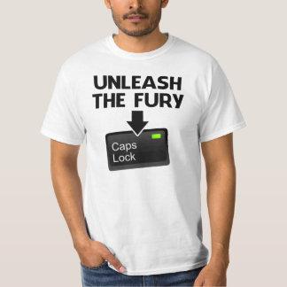 Unleash the Fury Caps Lock Tshirt