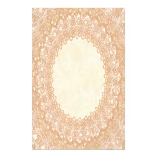 Unlined Monogram Cream IV Wedding Lace Stationery