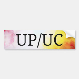 UP/UC  Unassisted Bumper Sticker