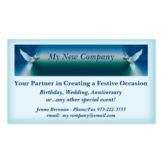 Uplifting Event Planning Business Card