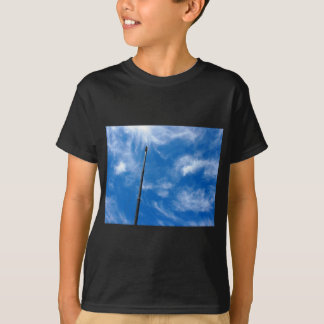 Upward view on the boom of a crane tshirt