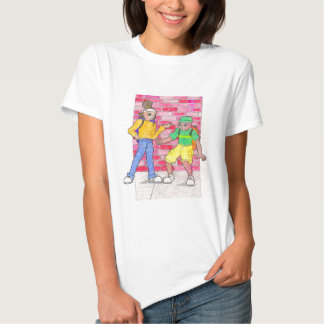 Urban anime art gallery characters tshirts