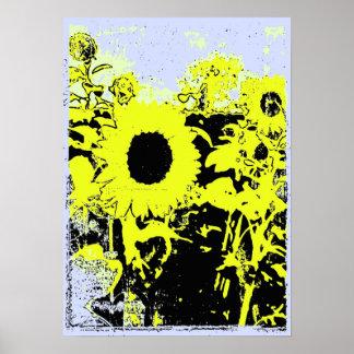 Urban Sunflower Poster Art