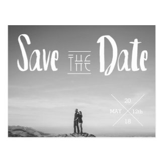 Urban Typography Photo Save The Date Postcard