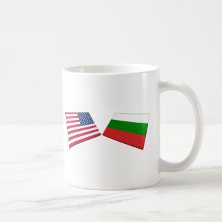 US & Bulgaria Flags Basic White Mug