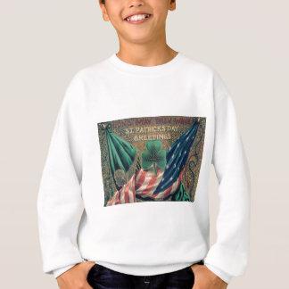 USA American Flag Irish Shamrock T Shirt