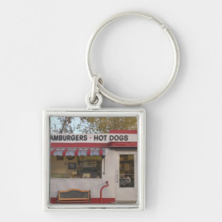 USA, Arizona, Bisbee: Shady Dell Motel, All 2 Silver-Colored Square Key Ring